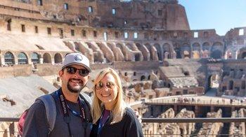 ,Coliseo,Colosseum,Foro Romano,Forum,Con Coliseo y Monte Palatino