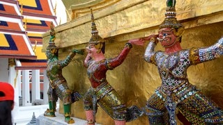 Temple of the Emerald Buddha showing religious aspects and a temple or place of worship