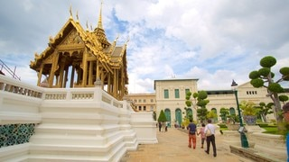 Grand Palace which includes a temple or place of worship as well as a small group of people