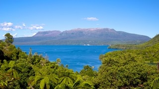 Lake Tarawera which includes landscape views and a lake or waterhole