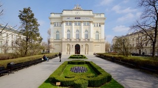 Warsaw University which includes heritage architecture and heritage elements