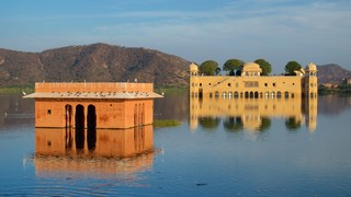 Jal Mahal featuring a lake or waterhole