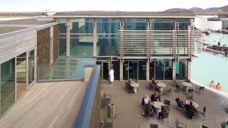 Blue Lagoon featuring outdoor eating, cafe lifestyle and a luxury hotel or resort