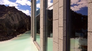Blue Lagoon featuring a luxury hotel or resort
