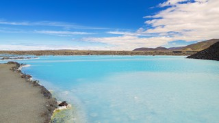 Blue Lagoon showing a hot spring