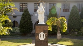 Carmelite Monastery showing a statue or sculpture and a park