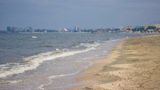 Mamaia Beach featuring a pebble beach and general coastal views
