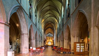 St. Patrick\'s Cathedral showing interior views, heritage architecture and religious elements