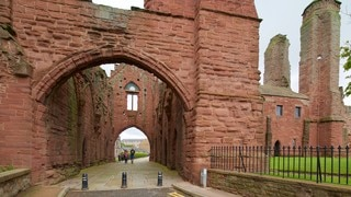 Arbroath Abbey featuring a ruin and heritage elements