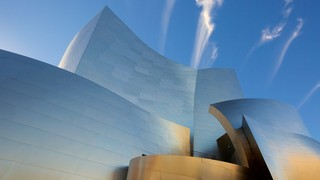 Walt Disney Concert Hall showing modern architecture and a city