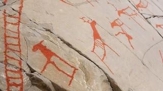 Art rock carvings alta norway stock photo edit now
