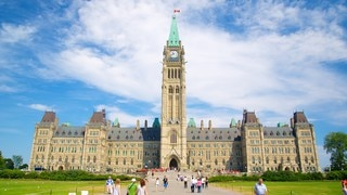 Peace Tower showing heritage elements