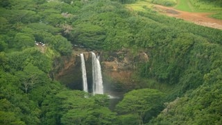 Wailua Falls which includes a cascade and forest scenes