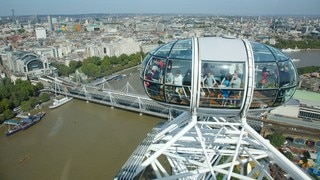 London Eye showing views, a river or creek and a city
