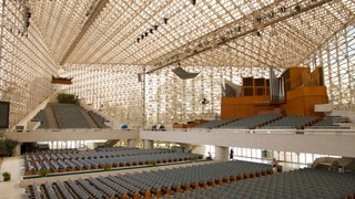 Crystal Cathedral featuring religious aspects, a church or cathedral and interior views