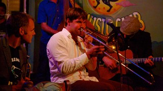 Frenchmen Street Jazz Clubs which includes music, night scenes and interior views