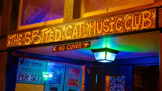 Frenchmen Street Jazz Clubs which includes music, interior views and nightlife