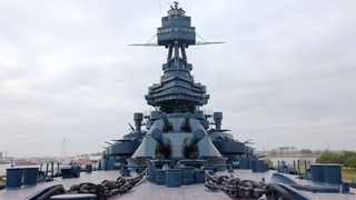 Battleship Texas which includes a memorial and military items