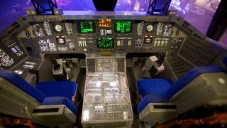 Space Center Houston which includes interior views and aircraft