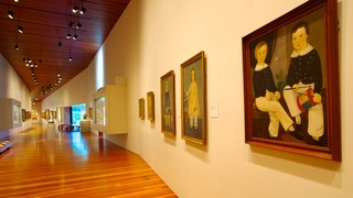 De Young Museum showing art and interior views