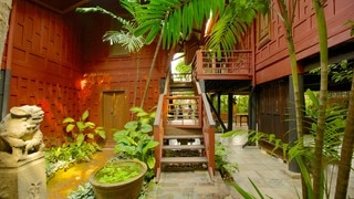 Jim Thompson House featuring tropical scenes
