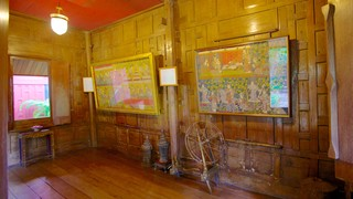 Jim Thompson House showing interior views and art