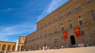 Pitti Palace showing heritage architecture, chateau or palace and a square or plaza