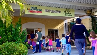 Great Explorations Children\'s Museum as well as a large group of people