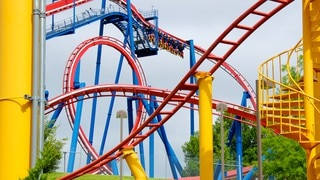 Worlds of Fun showing rides