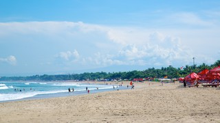 Legian Beach featuring a beach