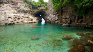 Baths Of Queen Giovanna which includes swimming and rugged coastline