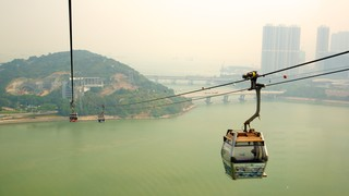 Ngong Ping 360 featuring a river or creek and a gondola