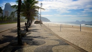 Sao Conrado Beach showing a sandy beach