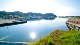 Marina Chahue featuring a bay or harbor