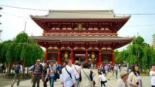 Sensoji Temple showing religious elements, a temple or place of worship and heritage architecture