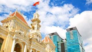 Ho Chi Minh City Hall showing heritage architecture and modern architecture