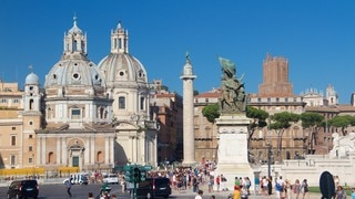 Piazza Venezia featuring a statue or sculpture, heritage architecture and a square or plaza