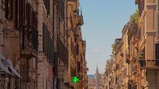 Piazza di Spagna featuring heritage architecture