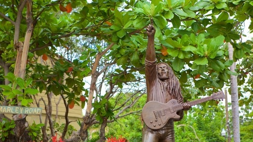Bob Marley Museum featuring a statue or sculpture