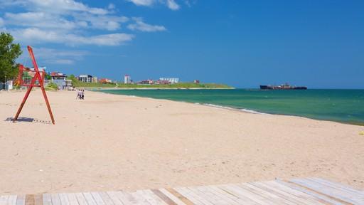 Costinesti Beach featuring a sandy beach and general coastal views