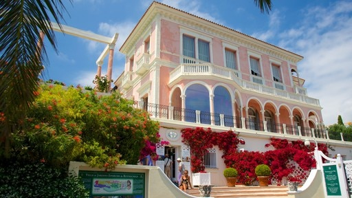 Villa Ephrussi showing heritage architecture and a hotel
