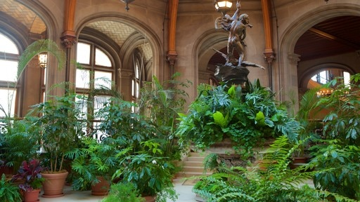 Biltmore Estate which includes a statue or sculpture, a garden and interior views