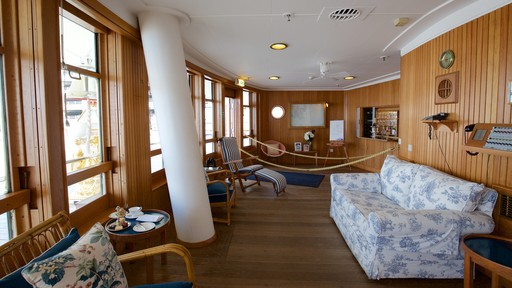 Royal Yacht Britannia featuring boating and interior views