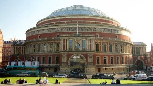 Royal Albert Hall which includes theater scenes, heritage architecture and street scenes