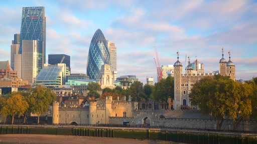Tower of London featuring a city, a castle and a high rise building