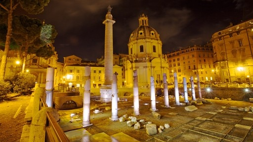 Roman Forum which includes heritage architecture, a church or cathedral and a monument