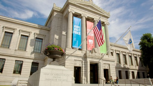 Boston Museum of Fine Arts showing a city