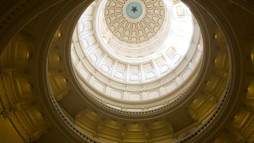 Texas State Capitol showing heritage architecture, interior views and an administrative buidling