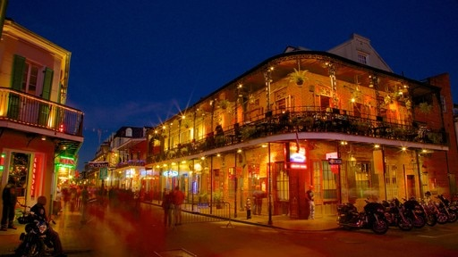 French Quarter showing night scenes, heritage architecture and street scenes