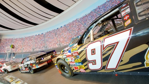 NASCAR Hall of Fame showing a sporting event and interior views